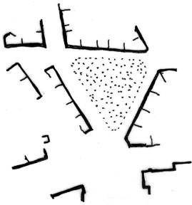 Schéma náměstí Františka Rashe. Schéma: autor.