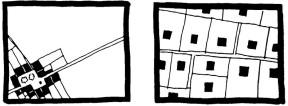 Zábor krajiny při koncentrované a rozptýlené výstavbě stejným počtem domů