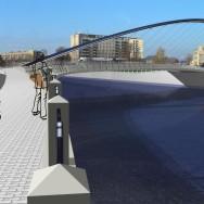 Vítězný návrh soutěže v r. 2003 na Tyršův most v Přerově (1. cena – Vilém Juttner, Petr Damek, Jaroslav Baron, Jaroslav Černý)